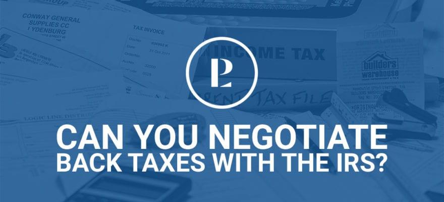 Negotiating Back Taxes